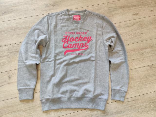 Bovelander sweater grey/pink