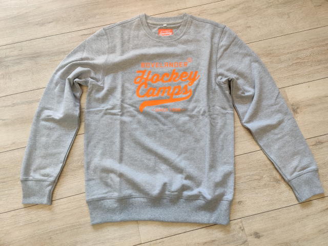 Bovelander sweater grey/orange